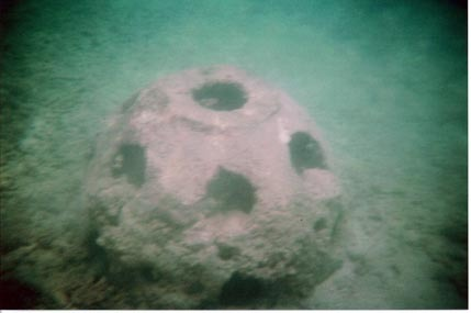 "17.jpg - hey have a few of these ""reef balls"" that they put in the the channels to grow coral on."