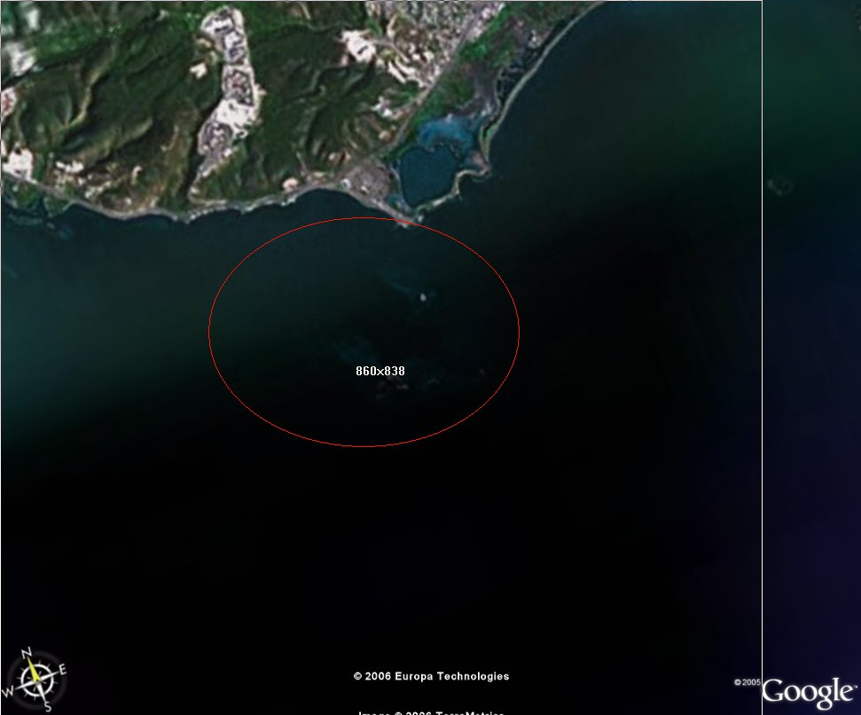 impactarea.jpg - Google Earth view of grounding area