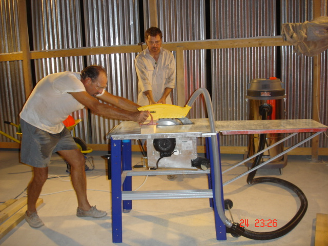 wernermischlerpics 258.jpg - Robbie & Dave work to build bases for the Reef Balls.